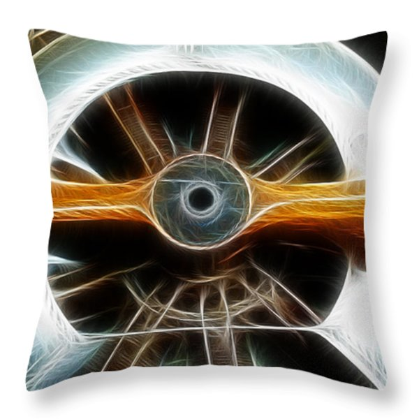 Plane Wood And Chrome Throw Pillow by Paul Ward