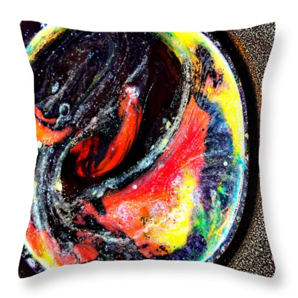Planet In Orbit Throw Pillow by Angelina Vick