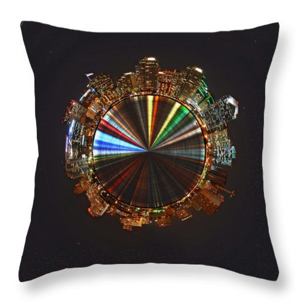 Planet Wee San Diego California by Night Throw Pillow by Nikki Marie Smith