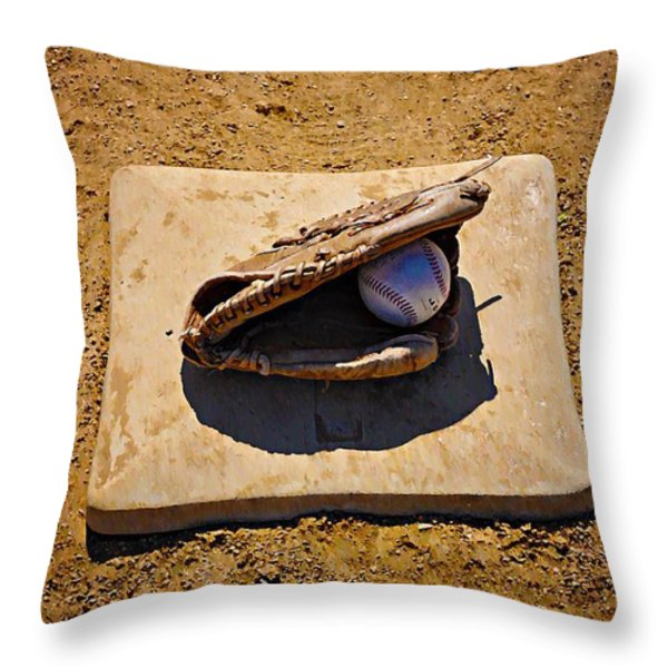 Play Ball Throw Pillow by Bill Cannon