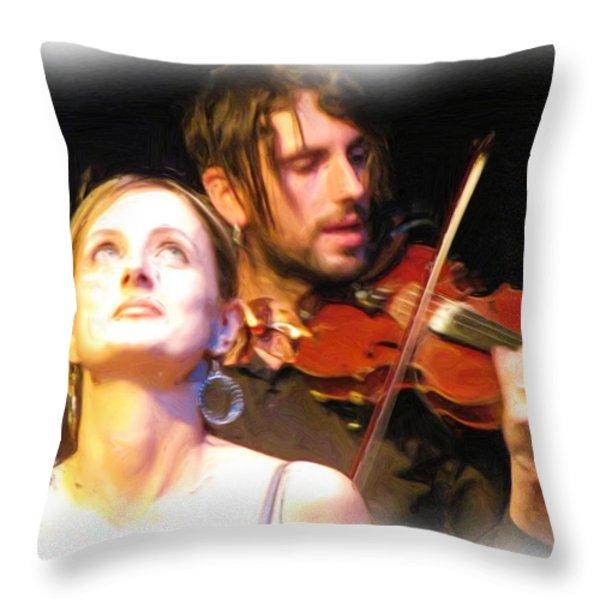 Play It Again Sam Throw Pillow by Feva  Fotos
