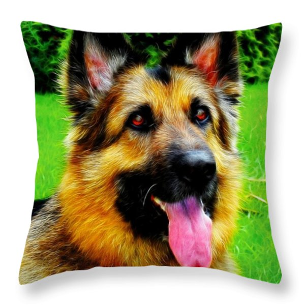Play With Me Throw Pillow by Mariola Bitner