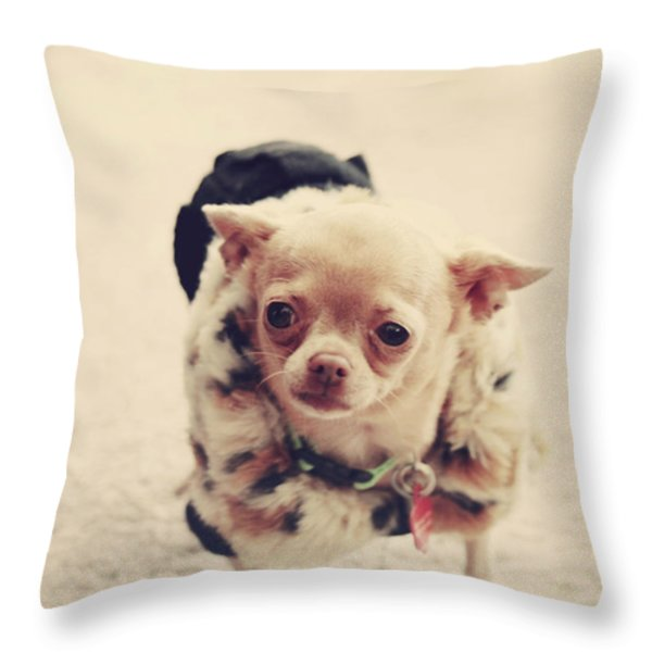 Please Meet Zoe Throw Pillow by Laurie Search