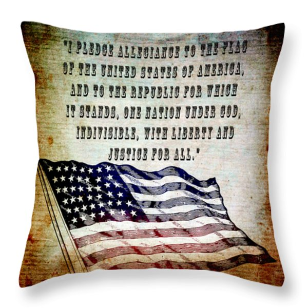 Pledge Throw Pillow by Angelina Vick