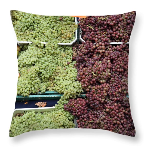 Pluots Grapes And Tomatoes - 5d17903 Throw Pillow by Wingsdomain Art and Photography