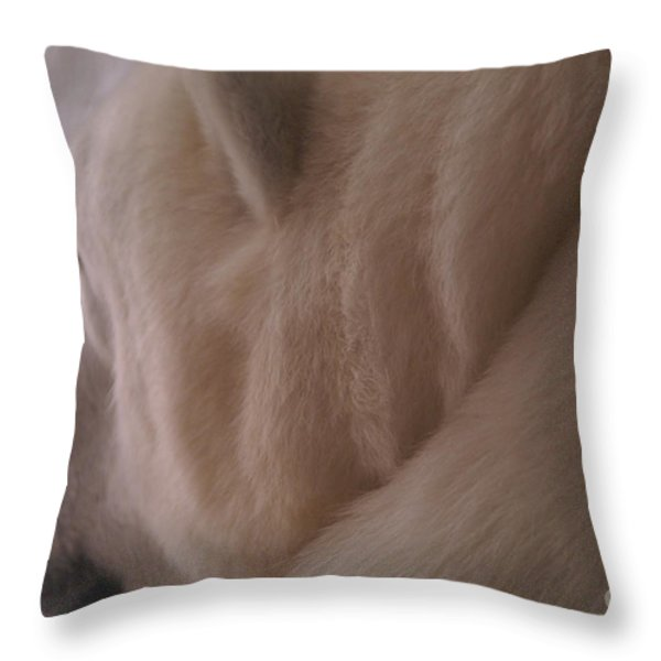 Polar Dream Throw Pillow by Linda Knorr Shafer