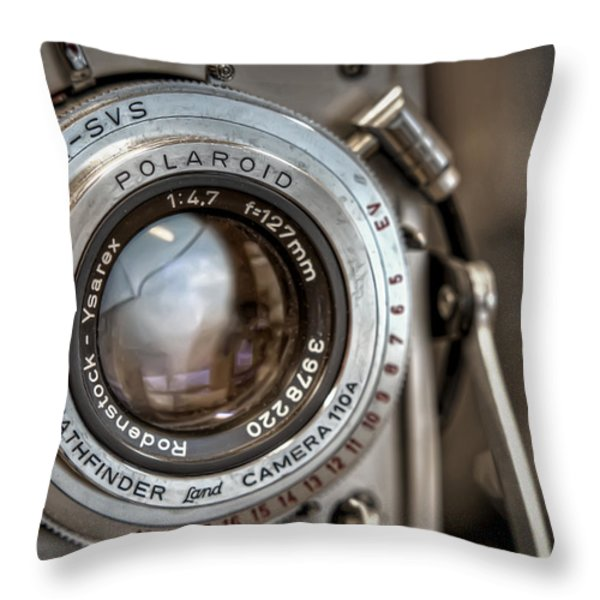 Polaroid Pathfinder Throw Pillow by Scott Norris