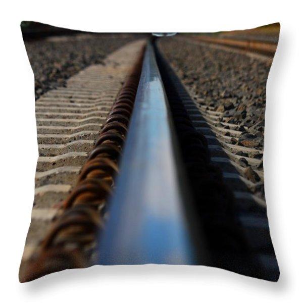 Polished Rails Throw Pillow by Patrick Witz