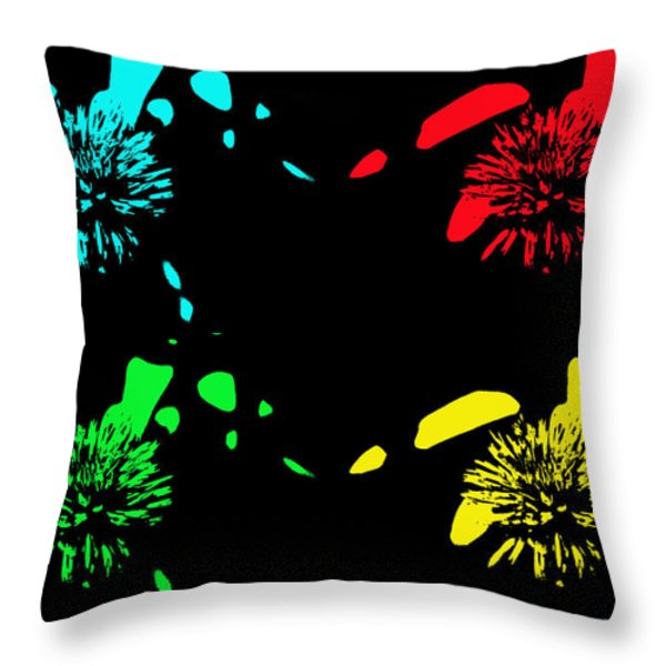 Pom Pom Pop Art Throw Pillow by Aimee L Maher Photography and Art
