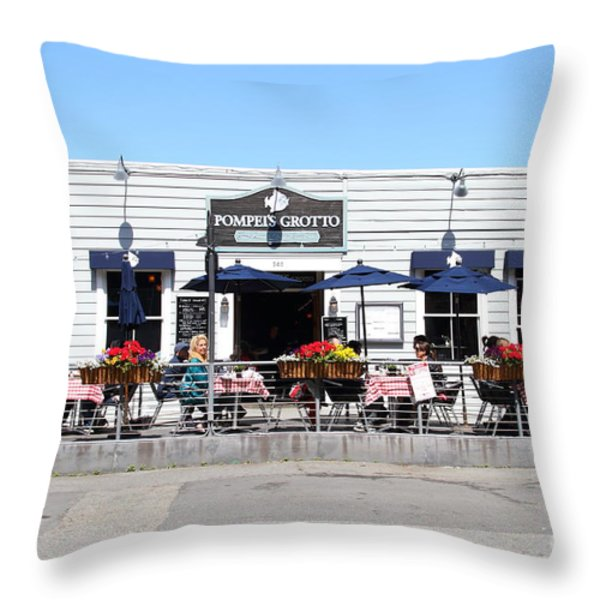 Pompeis Grotto Restaurant . Fishermans Wharf . San Francisco California . 7d14197 Throw Pillow by Wingsdomain Art and Photography
