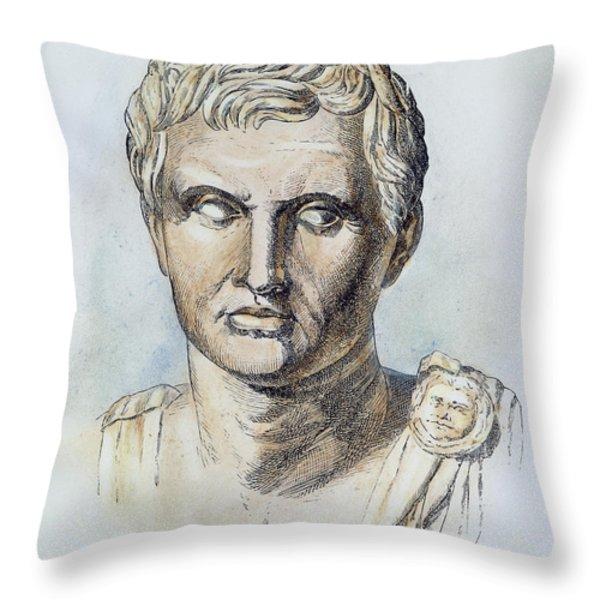 Pompey (106-48 B.c.) Throw Pillow by Granger
