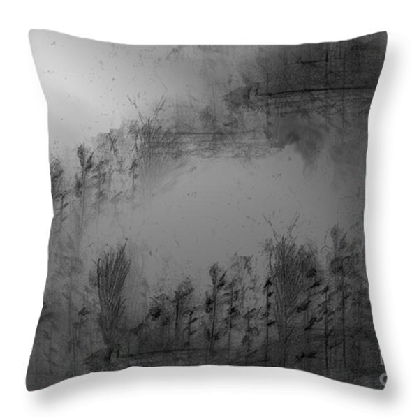 Pond By Moonlight Throw Pillow by John Krakora