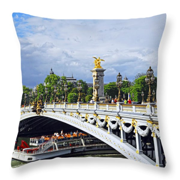 Pont Alexander III Throw Pillow by Elena Elisseeva