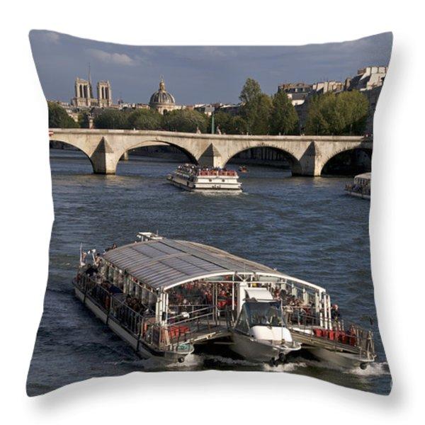 Pont du Carroussel. Paris. France Throw Pillow by BERNARD JAUBERT