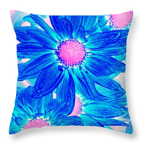 Pop Art Daisies 10 Throw Pillow by Amy Vangsgard