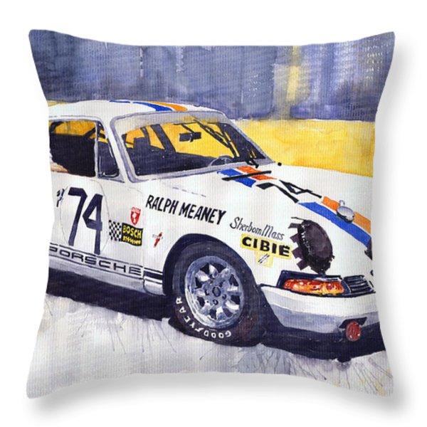 Porsche 911 Sebring 1970 Ralf Meaney Throw Pillow by Yuriy  Shevchuk