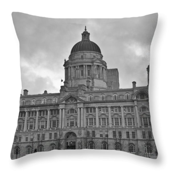 Port Of Liverpool Building Throw Pillow by Georgia Fowler