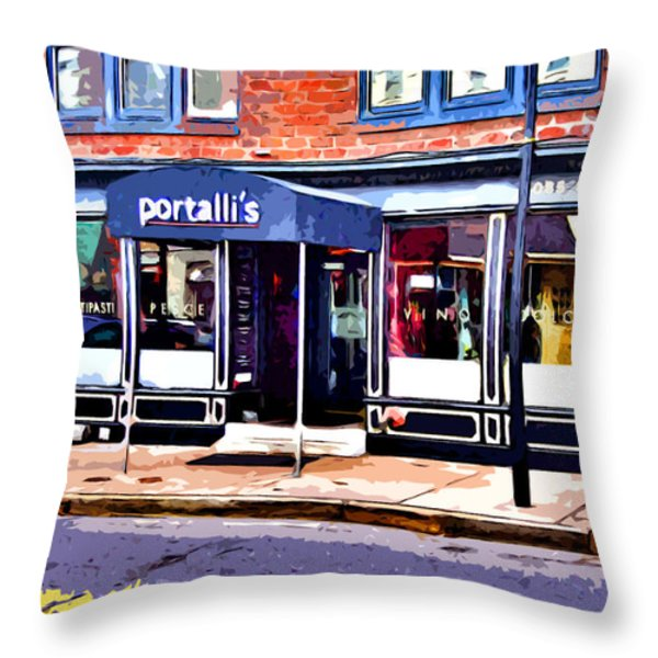 Portalli's Throw Pillow by Stephen Younts