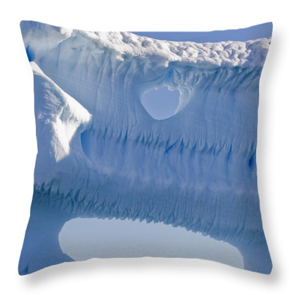 Portion Of A Gigantic Iceberg Throw Pillow by Ron Watts