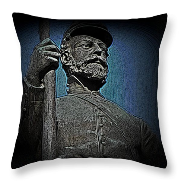 Portrait 30 American Civil War Throw Pillow by David Dehner