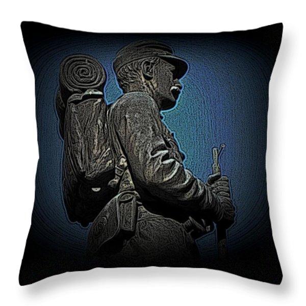 Portrait 31 American Civil War Throw Pillow by David Dehner