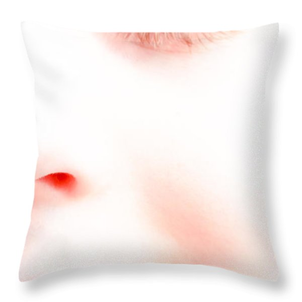 Portrait of a dream Throw Pillow by Bob Orsillo