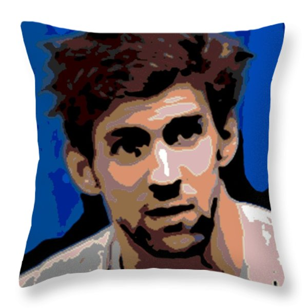 Portrait of Phelps Throw Pillow by George Pedro