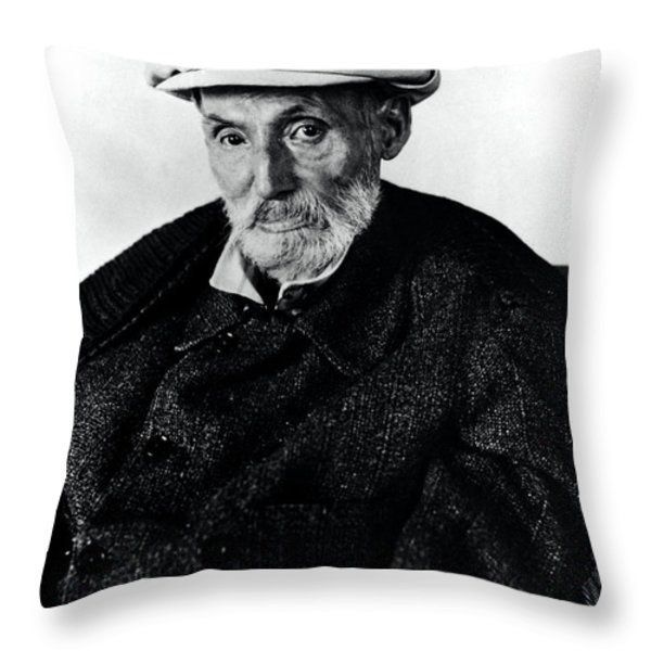 Portrait Of Renoir Throw Pillow by Photo Researchers