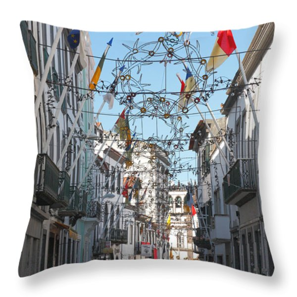 Portuguese Street Throw Pillow by Gaspar Avila