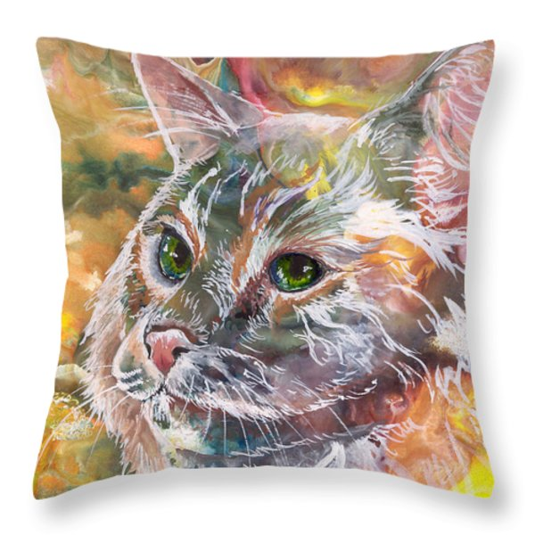 Posing Throw Pillow by Sherry Shipley