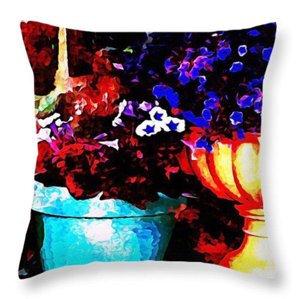 Pot Culture 2 Throw Pillow by Ankeeta Bansal