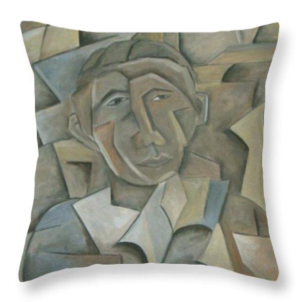 POTUS 44 Throw Pillow by Trish Toro