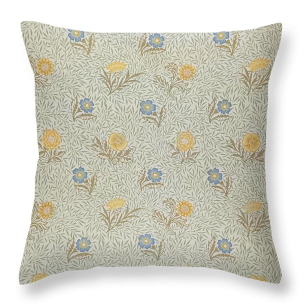 Powdered Throw Pillow by Wiliam Morris