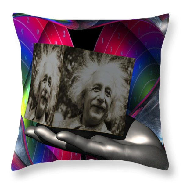 Power is Connecting Revelations with Reality Throw Pillow by Jon Became the Anti-Christ