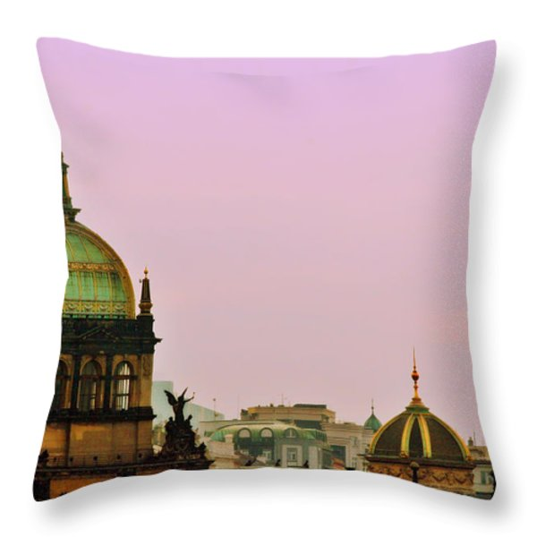 Prague - A living fairytale Throw Pillow by Christine Till