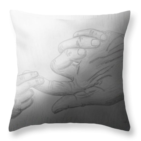 Precious Touch Throw Pillow by Kume Bryant