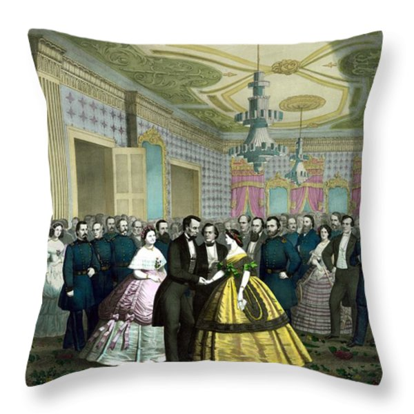 President Lincoln's Last Reception Throw Pillow by War Is Hell Store