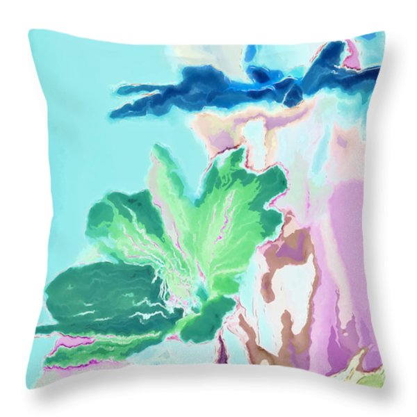 Pretty Bouquet A09z Throw Pillow by Variance Collections