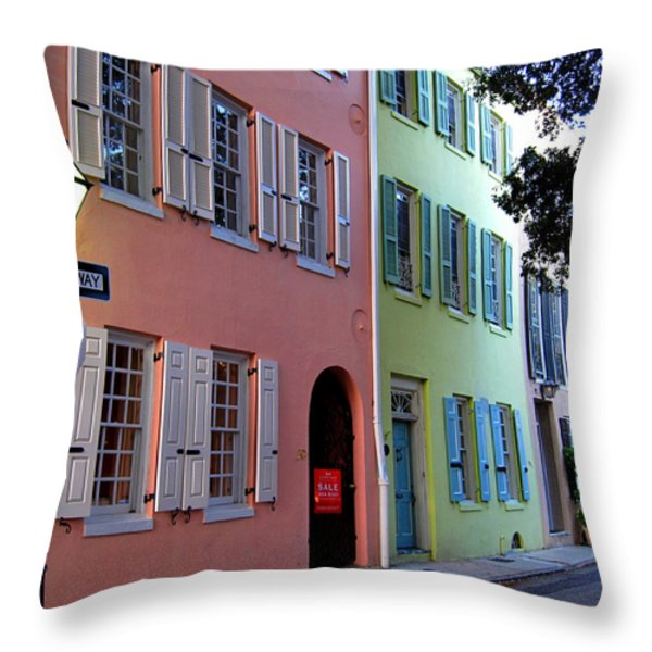 Pretty Lane in Charleston Throw Pillow by Susanne Van Hulst