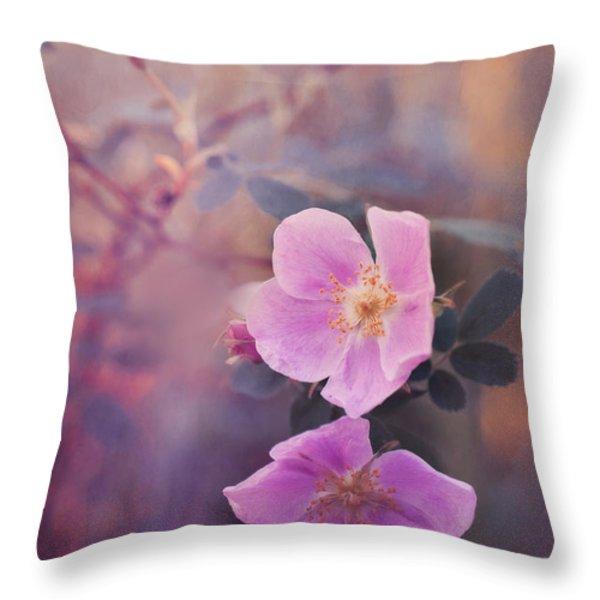 prickly rose Throw Pillow by Priska Wettstein
