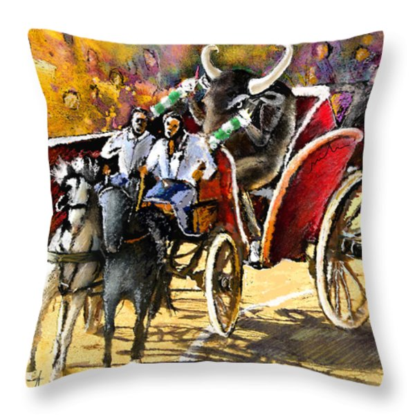 Proba Bull Cause Throw Pillow by Miki De Goodaboom