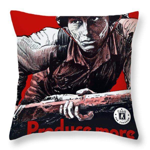 Produce More Milk For Him Throw Pillow by War Is Hell Store