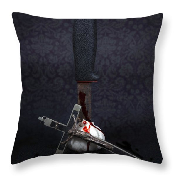 Protection Against Vampires Throw Pillow by Joana Kruse