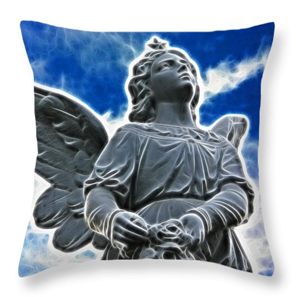 Protector Throw Pillow by Mariola Bitner