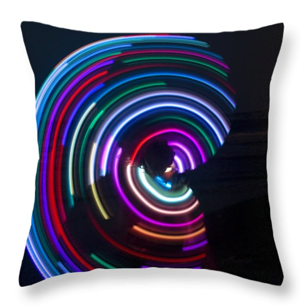 Psychedelic Hula Hoop Throw Pillow by Ilan Rosen