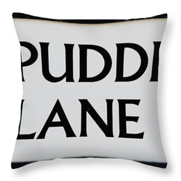 Pudding Lane Throw Pillow by Dawn OConnor