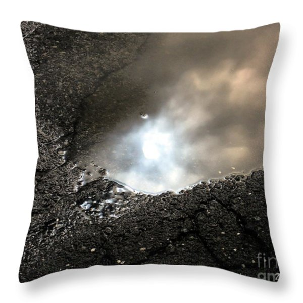 Puddle Art 7 Throw Pillow by Dale   Ford
