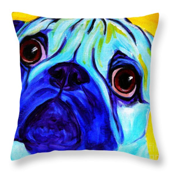 Pug - Sweetie Pug Throw Pillow by Alicia VanNoy Call