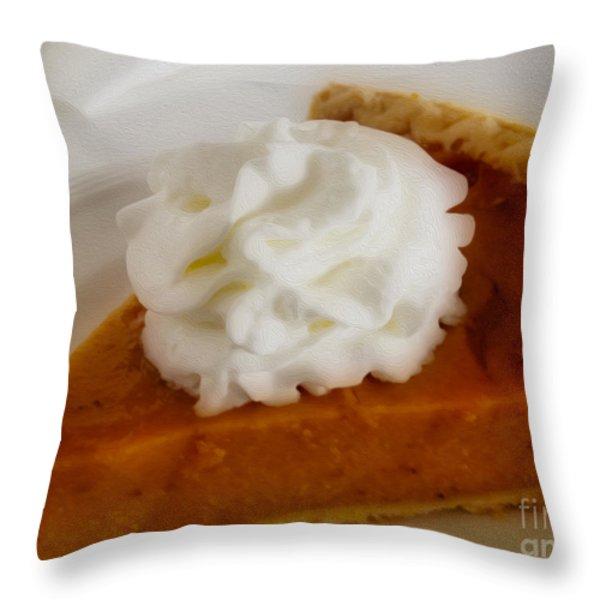 Pumpkin Pie Throw Pillow by Cheryl Young