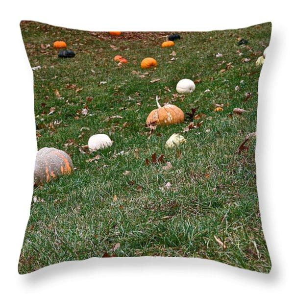 Pumpkins Throw Pillow by Susan Herber
